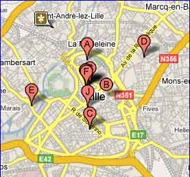 Carte des salons de massage à lille